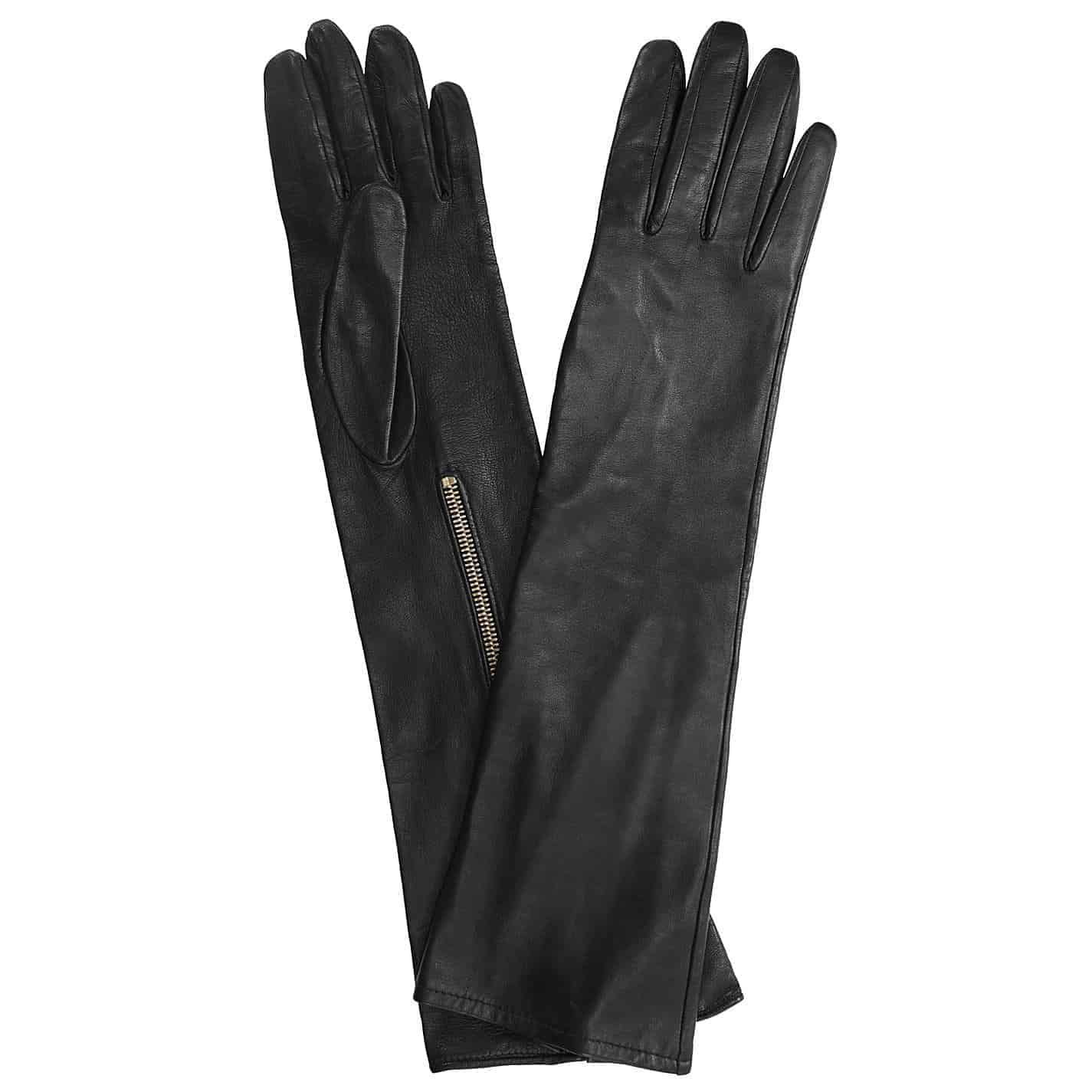 Long Leather Gloves Featured On The Catwalk In AW13 & Protect From Muddy Wheels