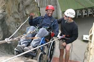 Wheelchair Abseiling