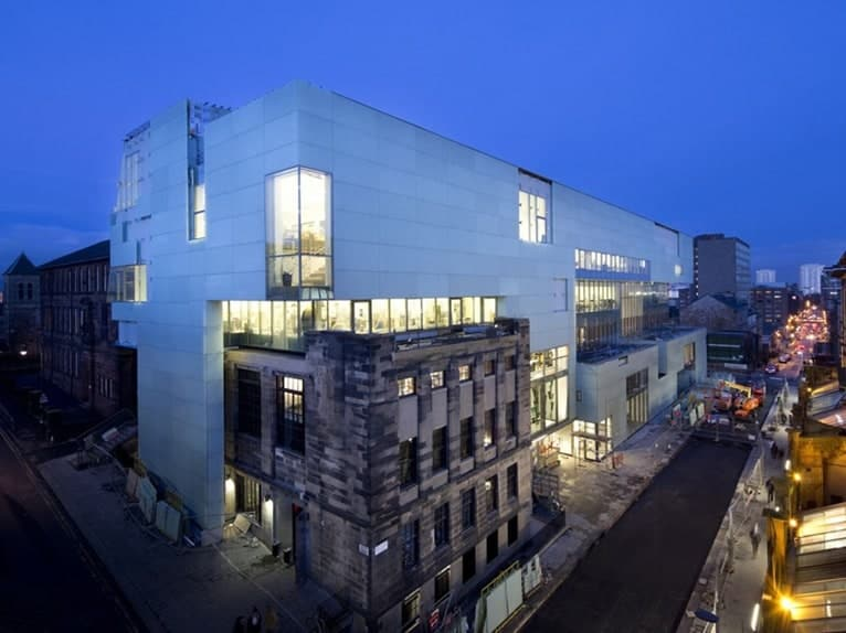 Reid Building at Glasgow School of Art - Beautifully Modern & Open Unlike The Fire Damaged Mackintosh Building