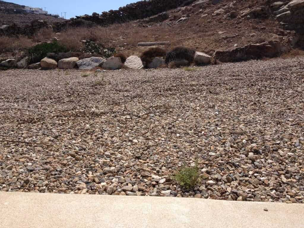 Travel tip - make sure the car can get out of the gravel at the dropping off point - Access in Mykonos