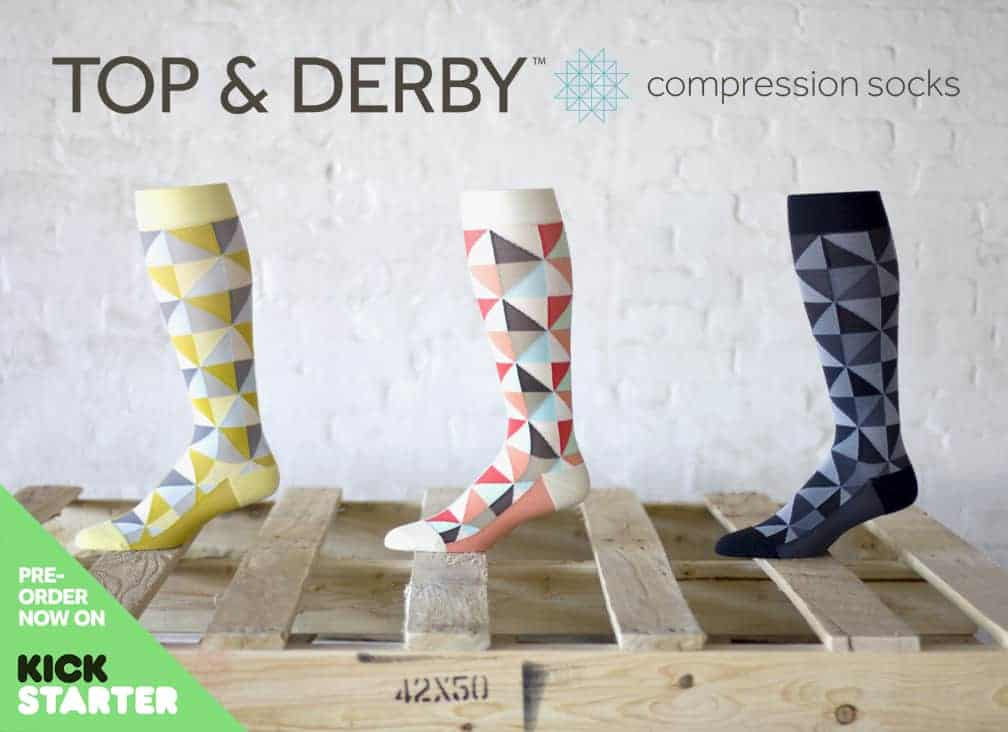Cool Compression Socks From Top & Derby Can be Ordered on Their Kickstarter Project. They Produce Them Once They Get Enough Orders