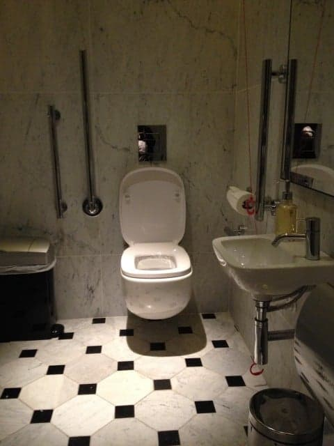 Disabled Toilet By Reception at the Edition Hotel
