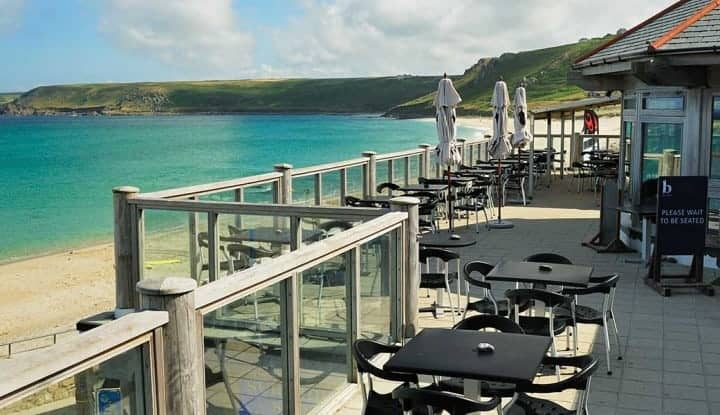 Ben Tunnicliffe Restaurant at Sennen Cove. Great Seafood, Beautiful Views & Great For Watching Dog Walkers. Fully accessible With Disabled Loo & Nearby Parking.