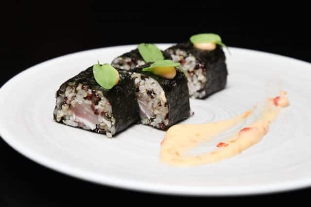 Quinoa Sushi at RAW. A Healthy Alternative to Rice