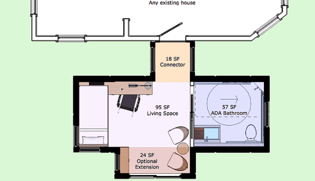 WHEEL PAD Temporary Accessible Home Layout