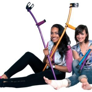 The Heavier Aluminium Crutches Have The Same Ergonomic Design & Look Equally Trendy