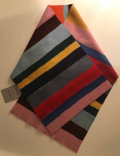 Lou Dalton/ John Smedley. Stripe Scarf/ Neck tie
