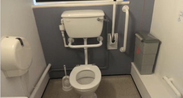 Remember It's your Home & Builders, Architects, OTs, Don't Always Get it Right. The Grab Rails at This Hospital Should be Either Side of The Toilet!!
