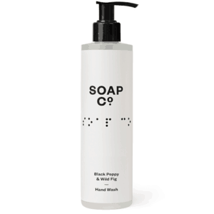Black Poppy & Wild Fig hand wash cleans and invigorates with a warm aroma