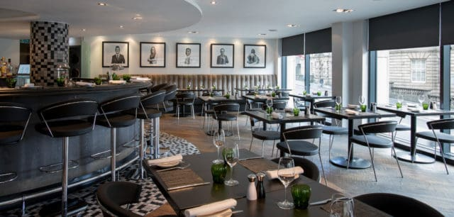 Ondine 1st Floor Seafood Restaurant, Edinburgh. Smooth Flooring & Space for Wheelchairs
