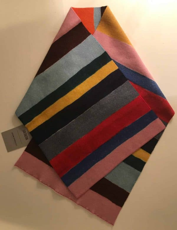 One Off Stripe Design Scarf From British Menswear Designer Lou Dalton. 600x778.
