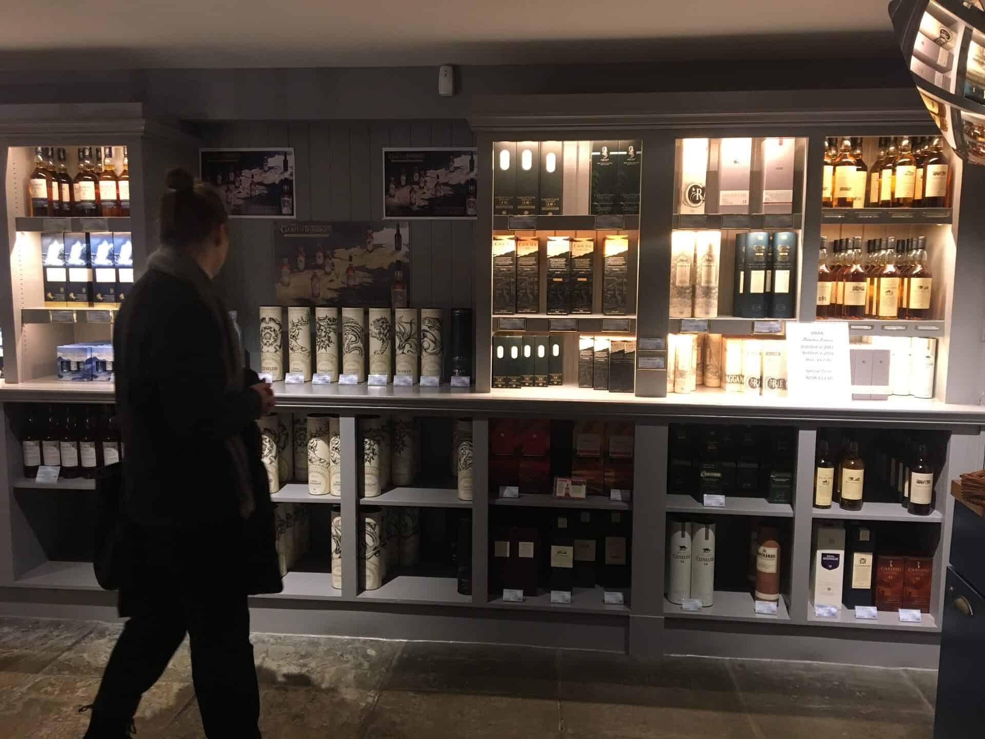 Spacious distillery shop