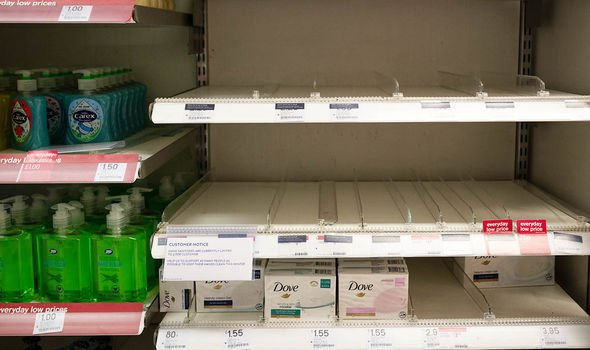 Empty Shelves of Sanitisers. But Make Your own With Alcohol, Water & Oil
