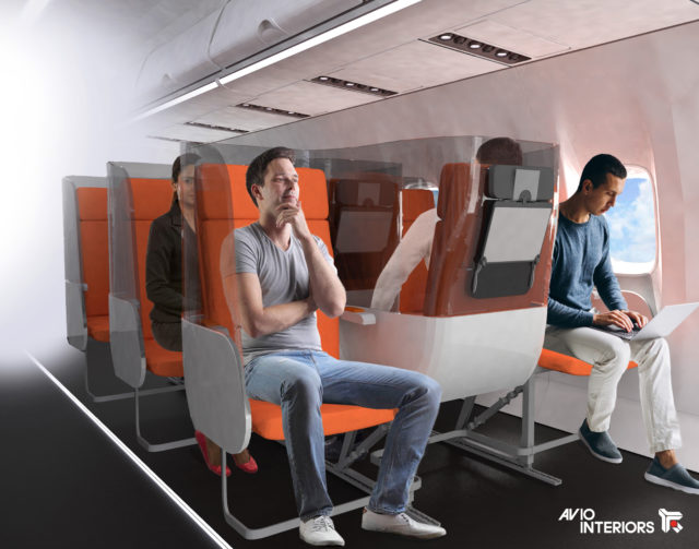 """Janus"" Airline Social Isolation Seat Prevents 'Breath Contamination'. Also Stops You Fighting Over The Armrest!"