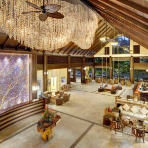 Reception at 'Eco' H Resort Beau Vallon Beach, Seychelles. Flat, Spacious & Well lit