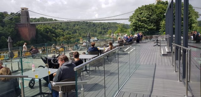 Hotel Du Vin at Avon Gorge Bristol isn't open until 2th April but their outside White Lion Terrace is and is fully Accessible.